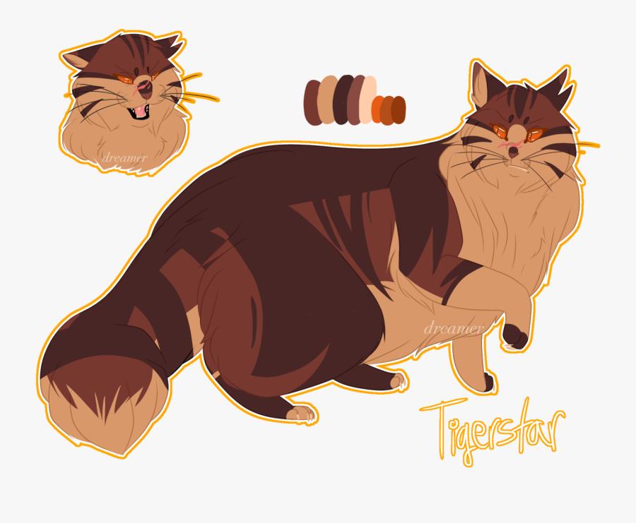 Clip Art Svg Freeuse Library Techflourish - Tiger Star Warrior Cats, Transparent Clipart