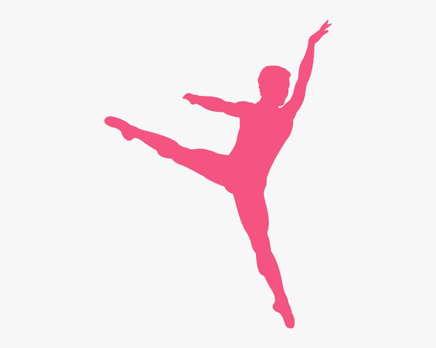 Silhouette Male Ballet Dancer, Transparent Clipart