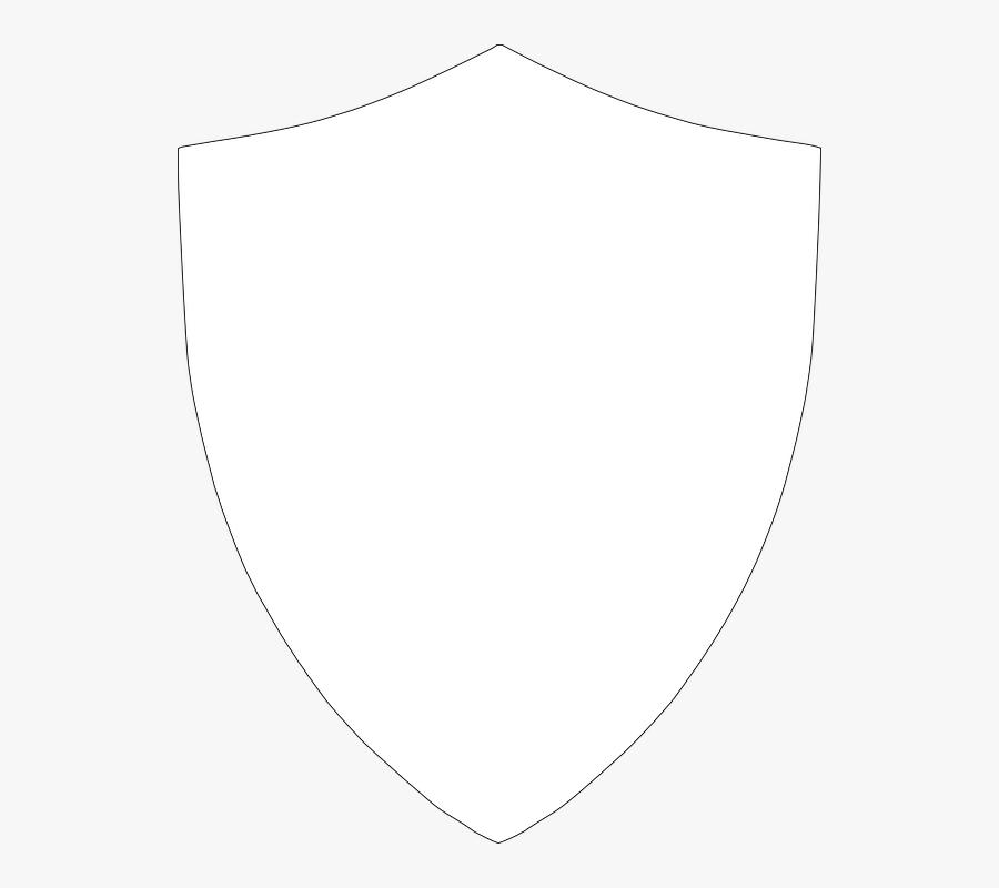 Transparent Black Shield Png - White Shield Outline Png, Transparent Clipart