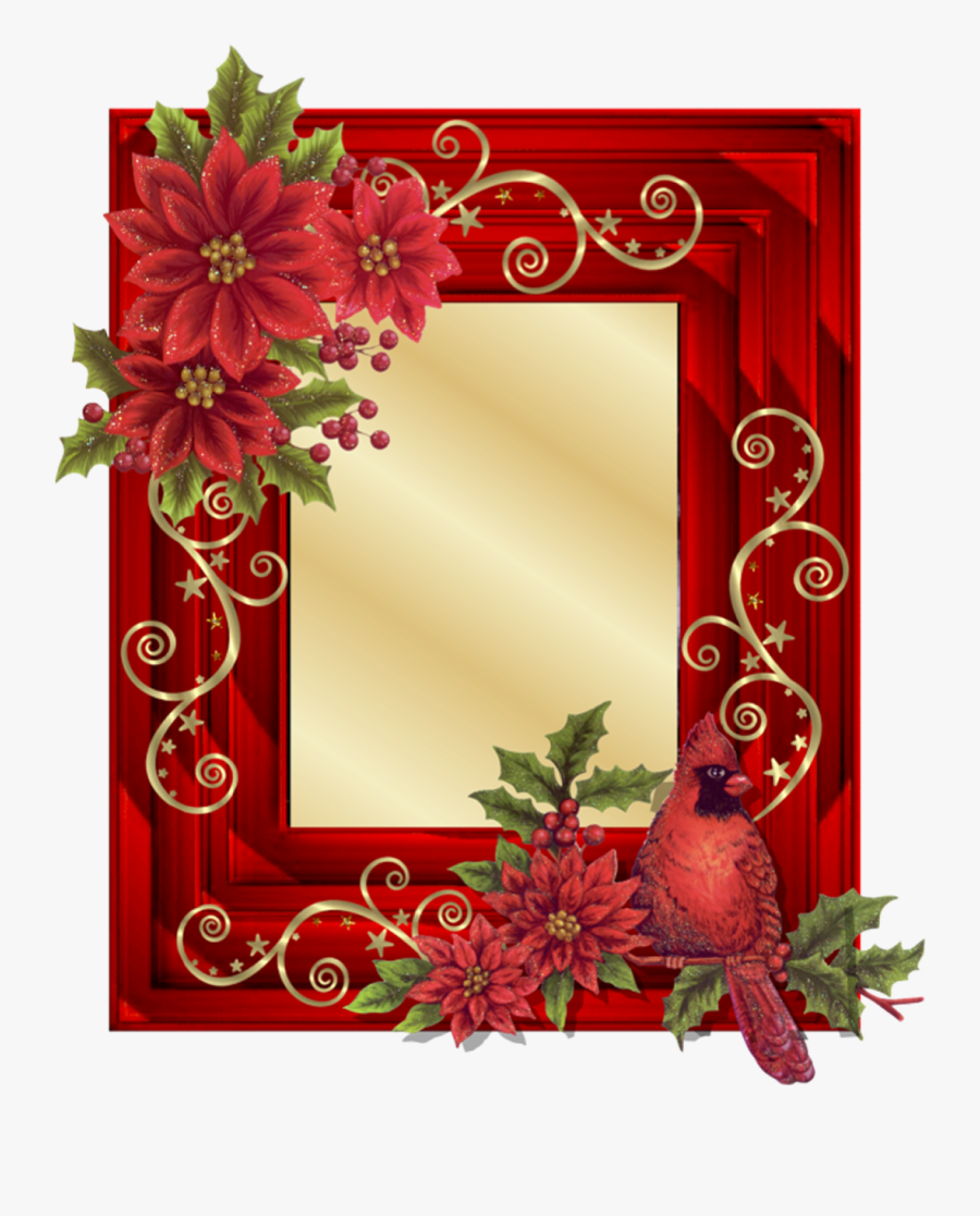 Vintage Christmas Frame Png - Handmade New Photo Frame, Transparent Clipart