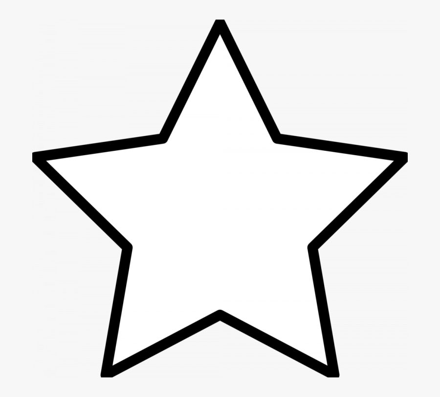 Download Star Clipart Black And White - Star Coloring Pages, Transparent Clipart