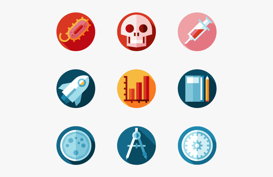 Clip Art Icons Free Vector Scientific - Chemistry Icons, Transparent Clipart