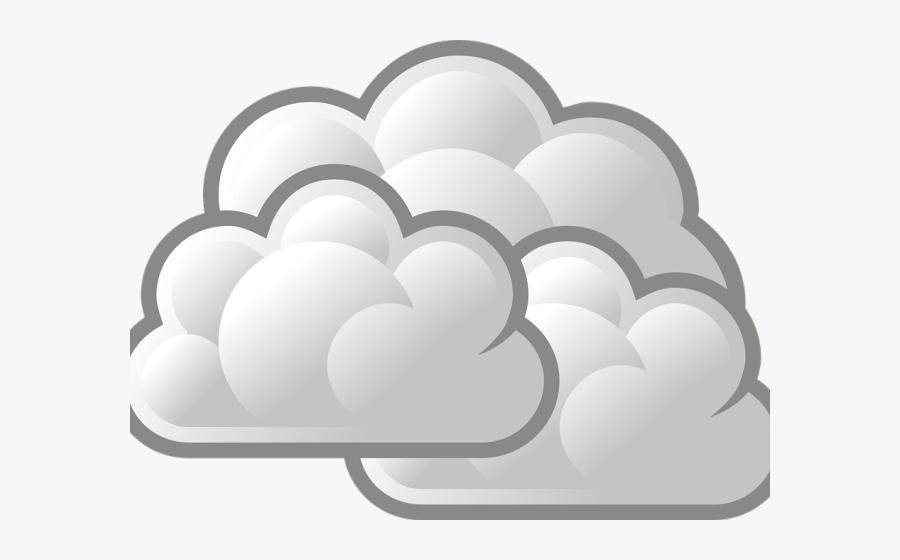 Cloudy Weather Symbol, Transparent Clipart