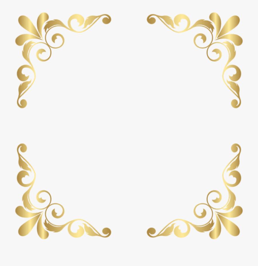 Corner Transparent Clipart - Transparent Background Golden Corner Border Png, Transparent Clipart