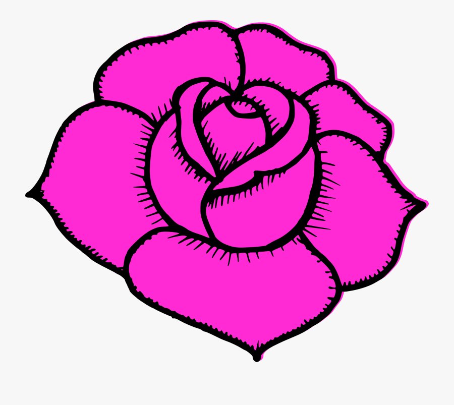 Simple Drawing At Getdrawings - Rose Simple Flower Drawing, Transparent Clipart