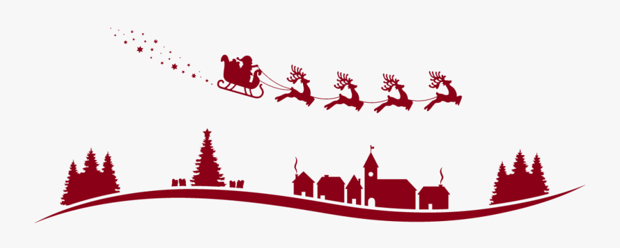 Santa Claus Reindeer Sled Vector Graphics Christmas - Santa Claus Reindeer Flying Vector, Transparent Clipart