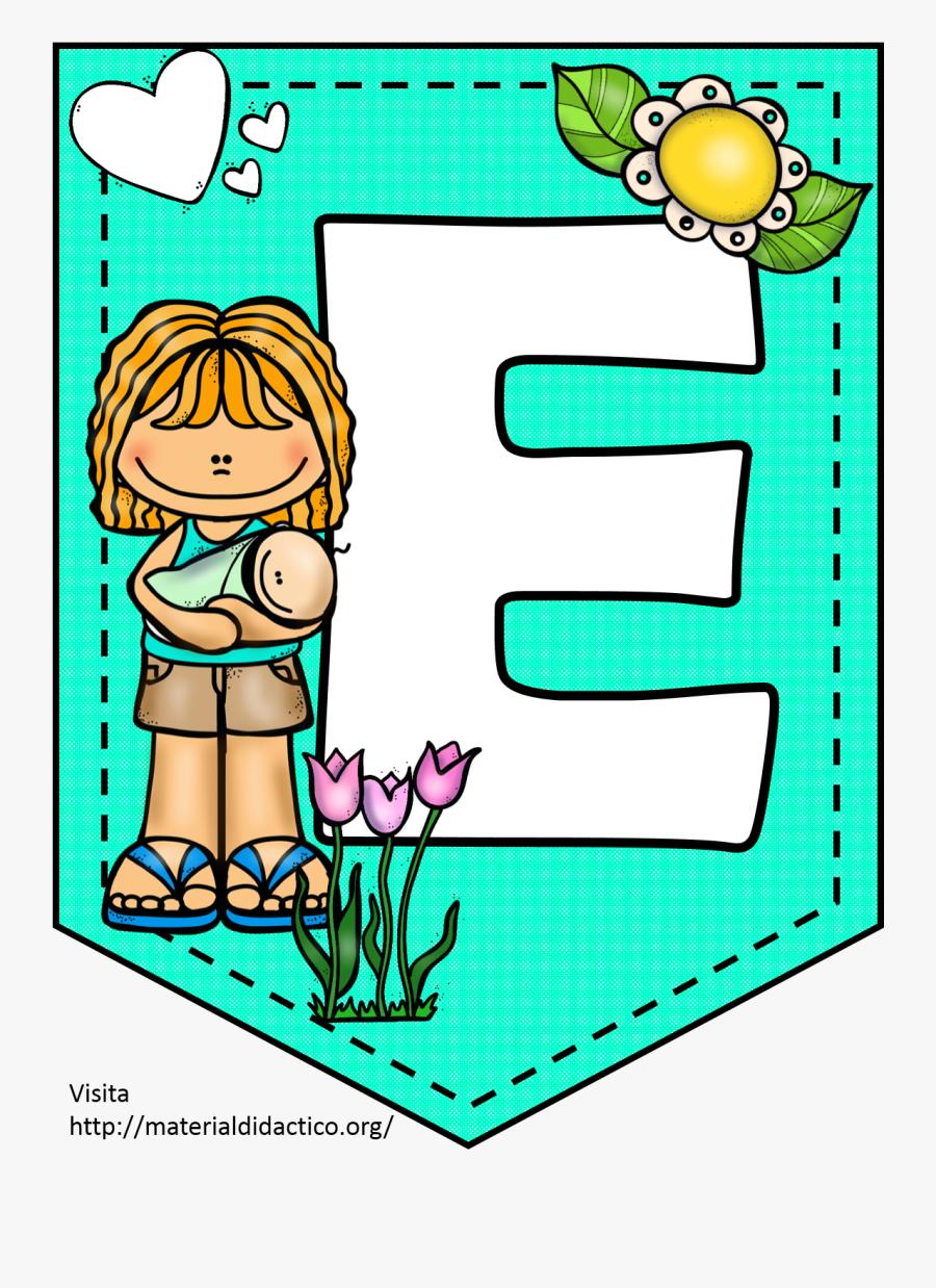 Ff - Abecedario En Banderines Para Imprimir, Transparent Clipart