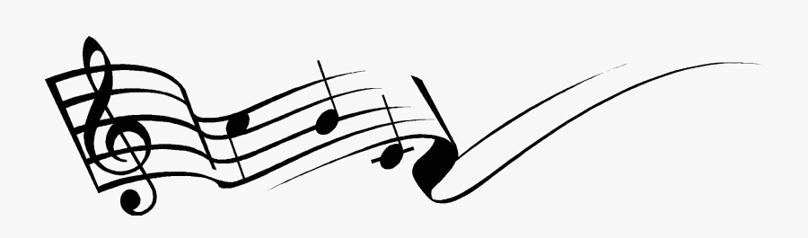 Free Half Note On Staff - Music Notes Png Gif, Transparent Clipart