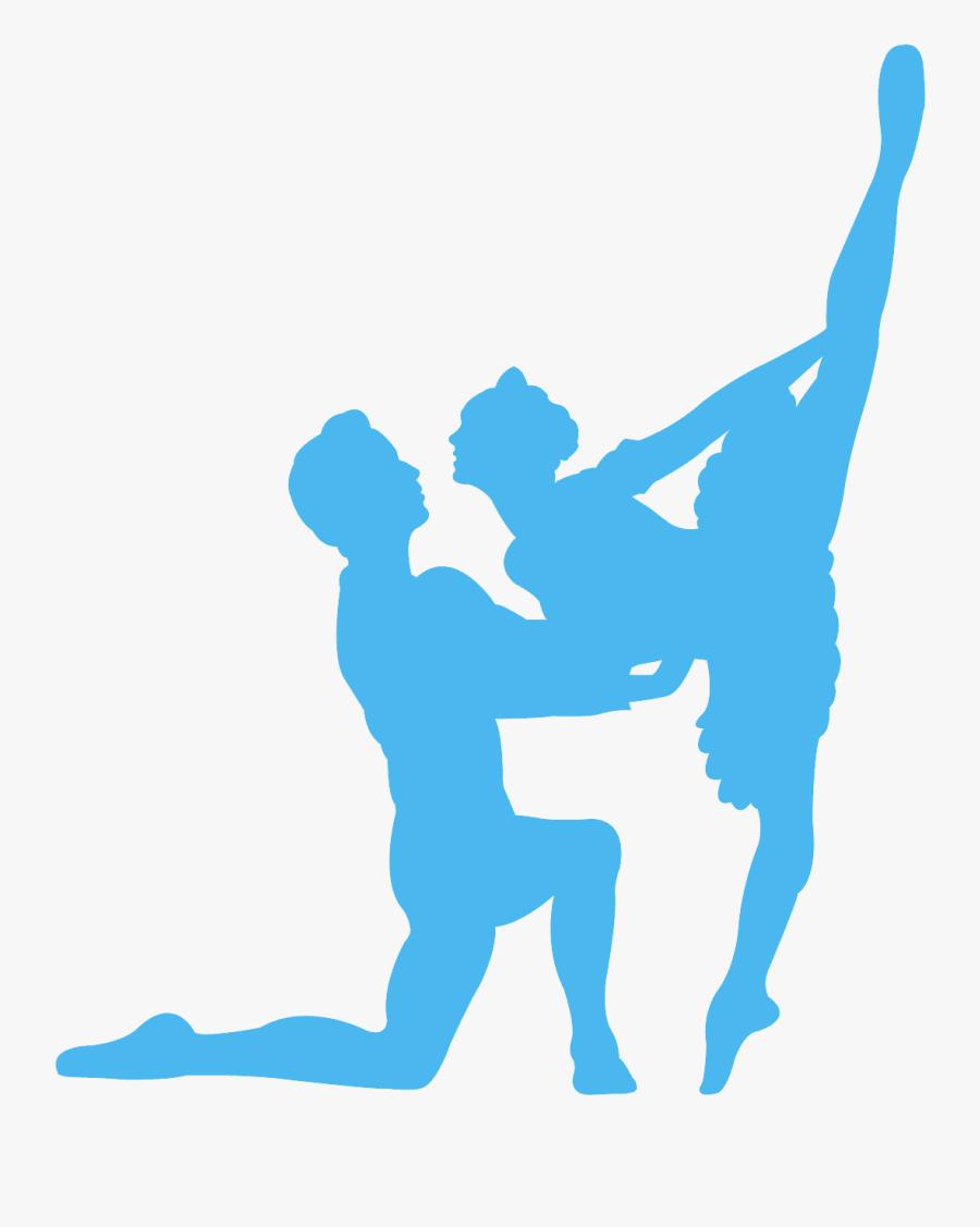 Ballet Couple Silhouette, Transparent Clipart