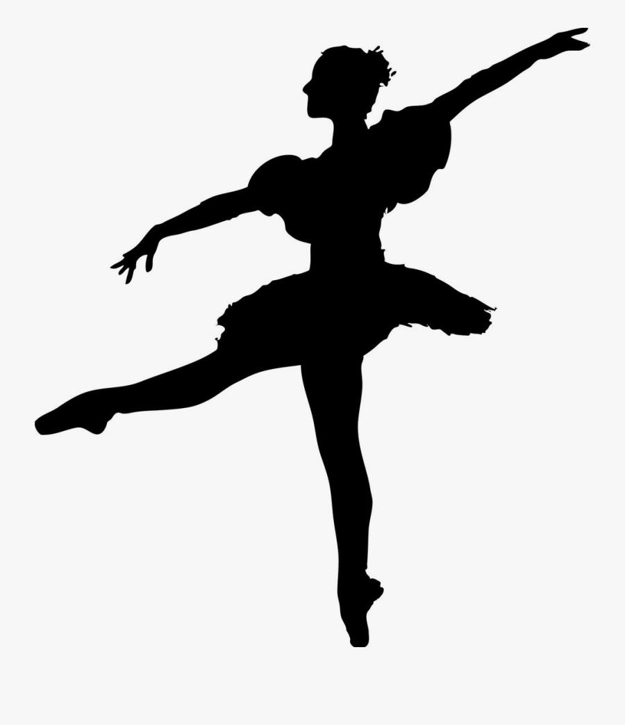 Silhouette Dancer Colored, Transparent Clipart