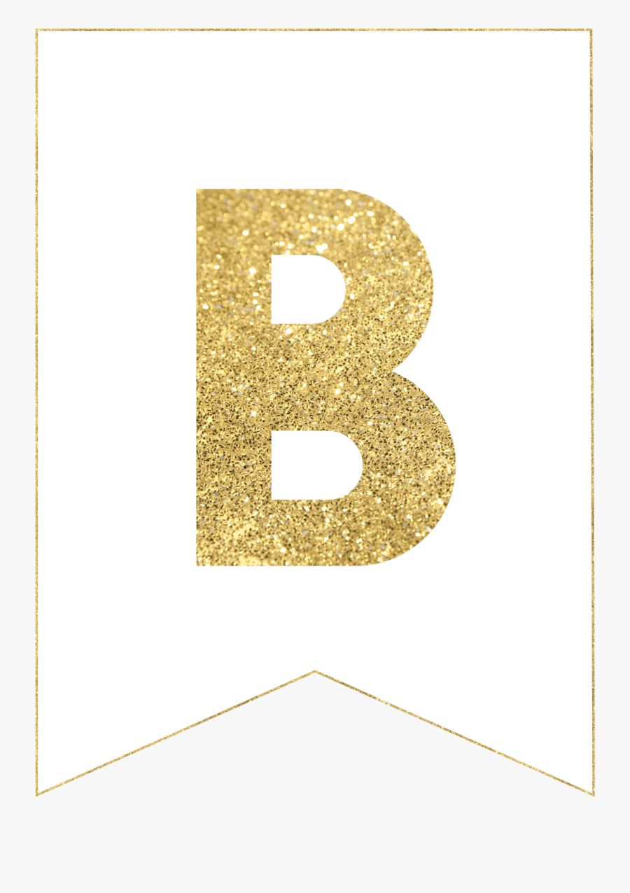 Free Gold Happy Birthday Banner Printable Free Transparent Clipart Clipartkey