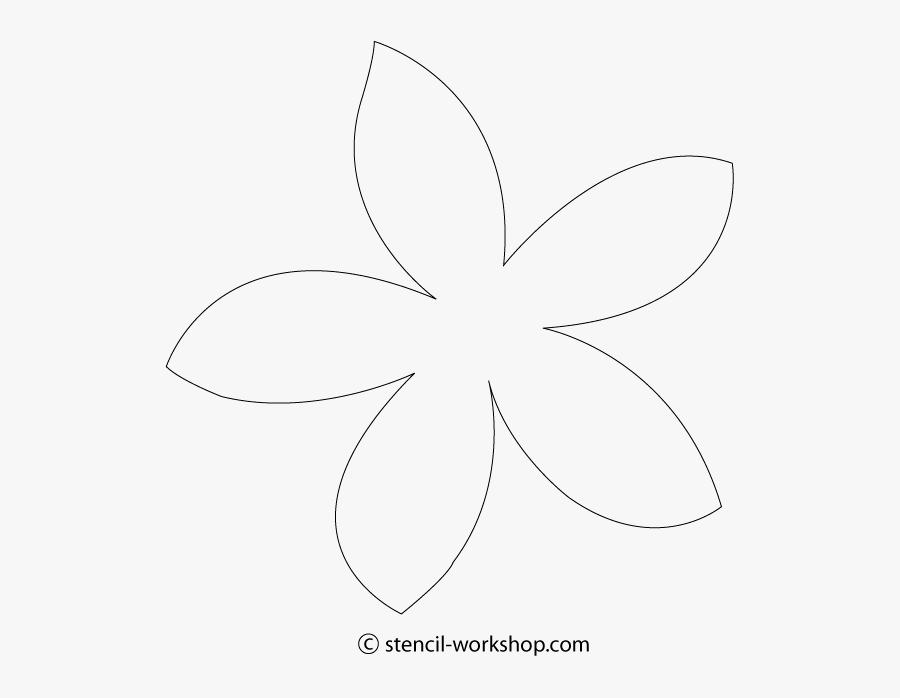 Drawing Hibiscus Frangipani - Plumeria Flower Cut Out, Transparent Clipart