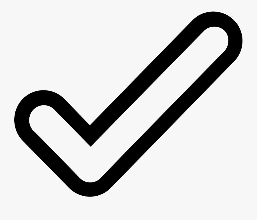 Computer Icons Check Mark Symbol Clip Art - Check Mark Outline Png, Transparent Clipart