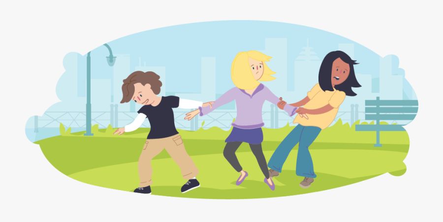 Girl In The Middle Being Pulled Either Way By Friends - Fighting With Friends Animation, Transparent Clipart
