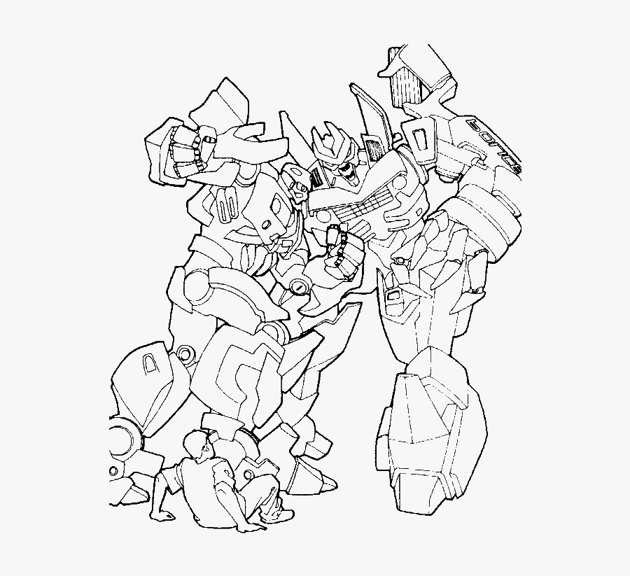 Transformers Are Fighting Coloring Page - Transformers Fighting Coloring Pages, Transparent Clipart