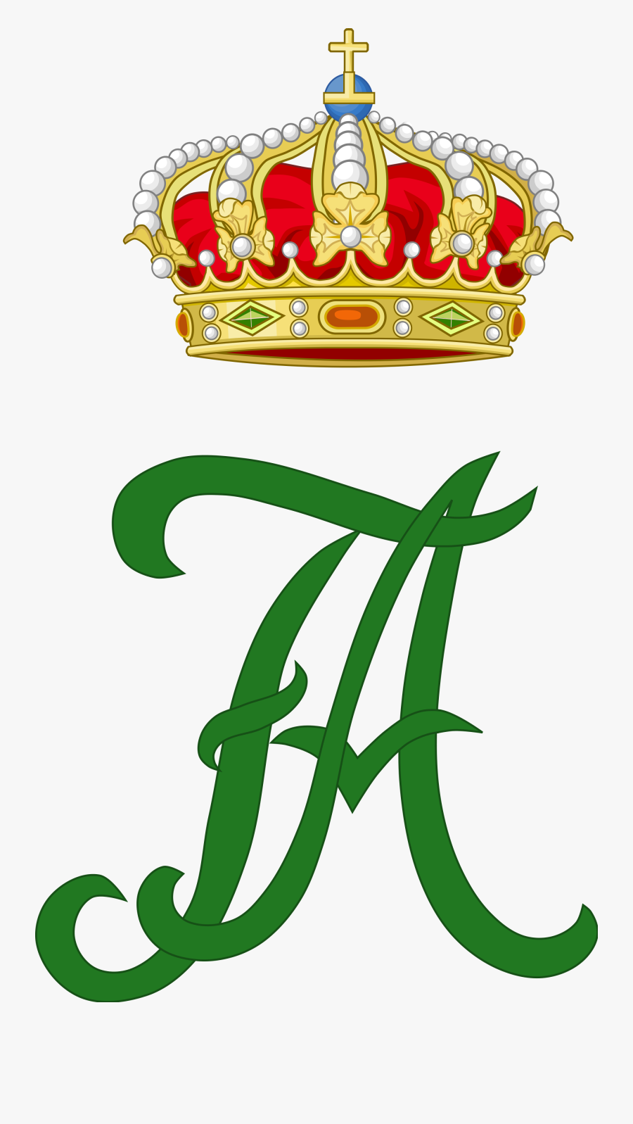 Royal Monogram Of King Frederick Augustus Iii Of Saxony - King George Ii Symbol, Transparent Clipart