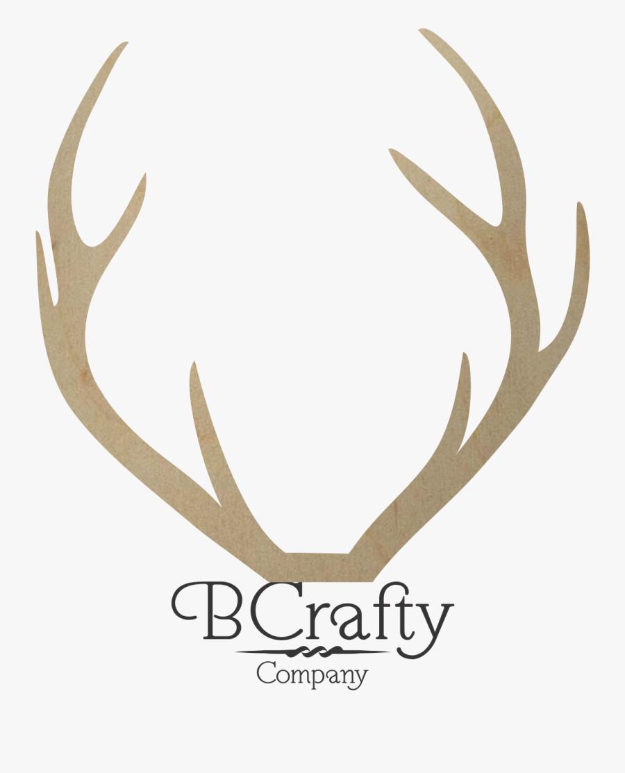 Wooden Deer Antler Shape - Elk, Transparent Clipart