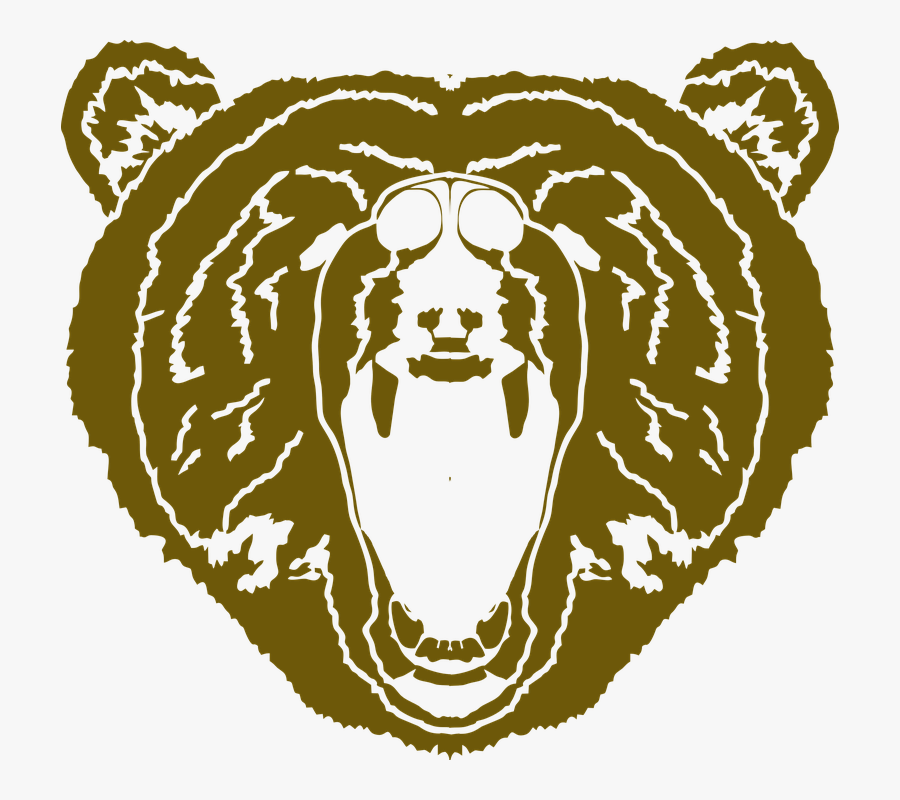 Bear, Bear Face, Mascot, Animal, Grizzly - Urso Mascote Png, Transparent Clipart