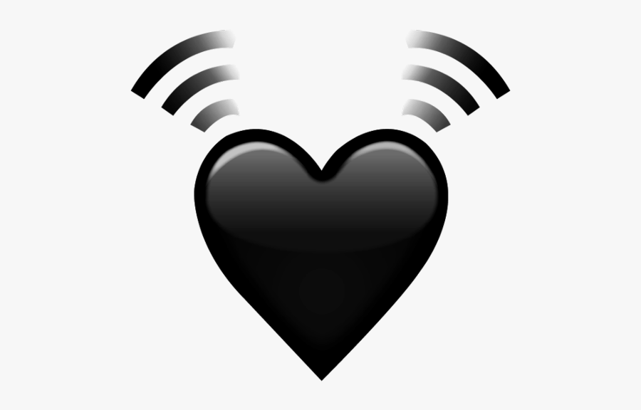 My Black Beating Heart Edit 💓🖤 - Heart, Transparent Clipart