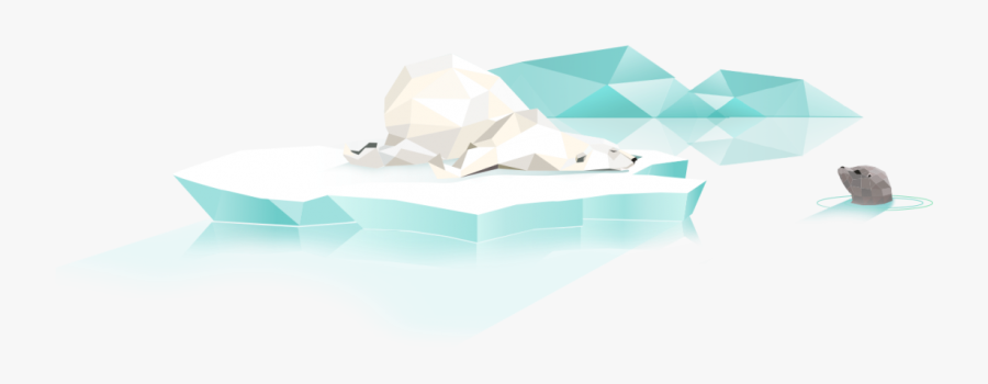 Polar Bear And A Seal - Architecture, Transparent Clipart