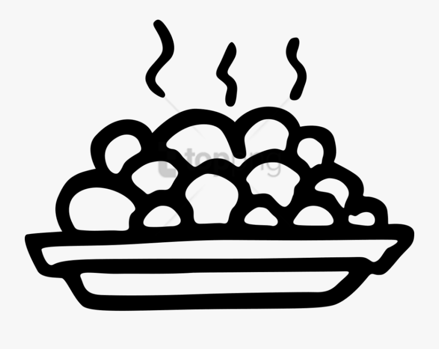 Plate Clipart Clear Background - Food Png Icon, Transparent Clipart