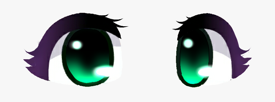 #eyes #green #greeneyes #gachaeyes #gachalife #gacha - Gacha Life Eyes Edit, Transparent Clipart