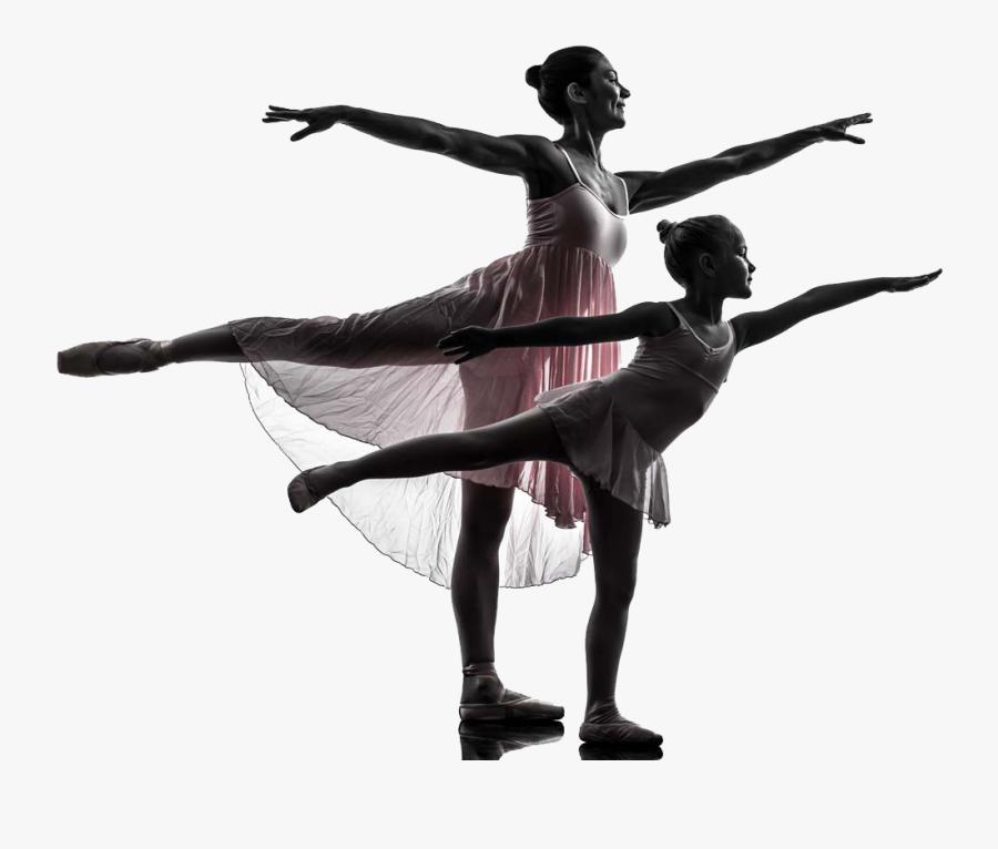 Ballet Dancer Silhouette Stock Photography - Ballet Little Girl Dancing Silhouette, Transparent Clipart