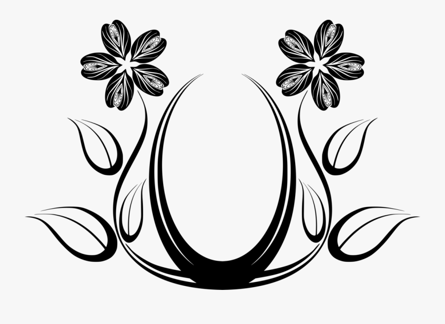 Line Art,plant,flower - Line Art Flower Designs, Transparent Clipart