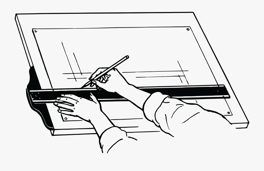 Technical Drawing Clipart , Png Download - Diagram Of A Drawing Board, Transparent Clipart