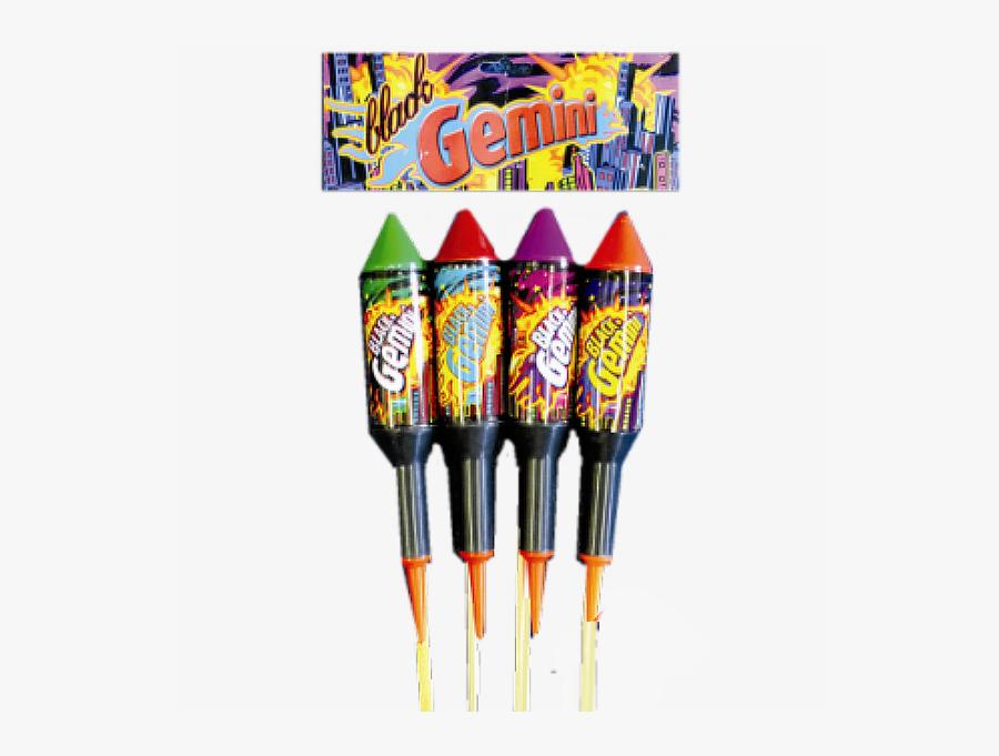 Black Gemini Rockets Fireworks - Explosive Weapon, Transparent Clipart