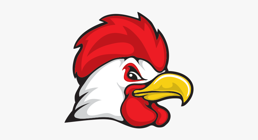 Transparent Rooster Head - Rooster Head Step By Step, Transparent Clipart