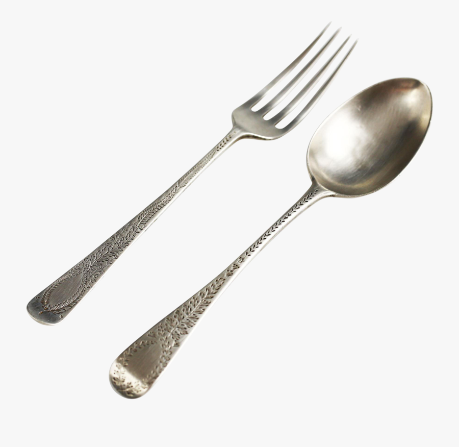 Silver Fork Png Background Image - Spoon And Fork Transparent, Transparent Clipart