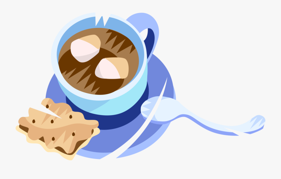 Vector Illustration Of Hot Chocolate Cocoa Hot Drink, Transparent Clipart