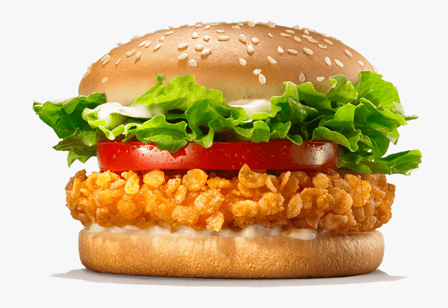 Crispy Chicken Burger King, Transparent Clipart