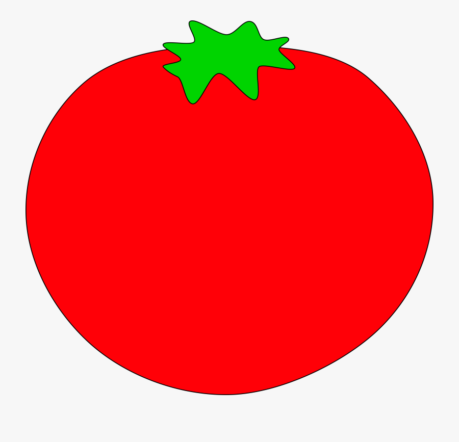 Tomato Vegetable Plant - Red Object Clip Art, Transparent Clipart