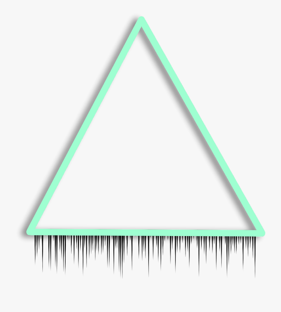 Transparent Triangle Border Clipart - Triangle Background Glow, Transparent Clipart