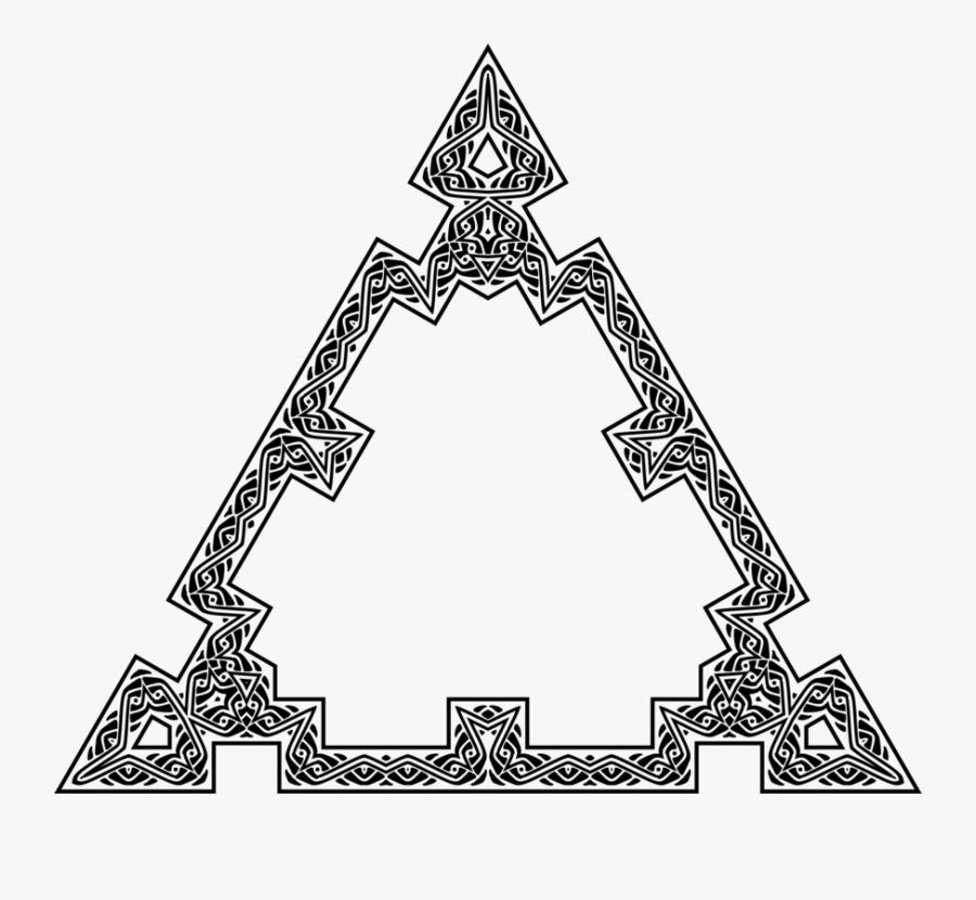 Line Art,triangle,symmetry - Line Art, Transparent Clipart