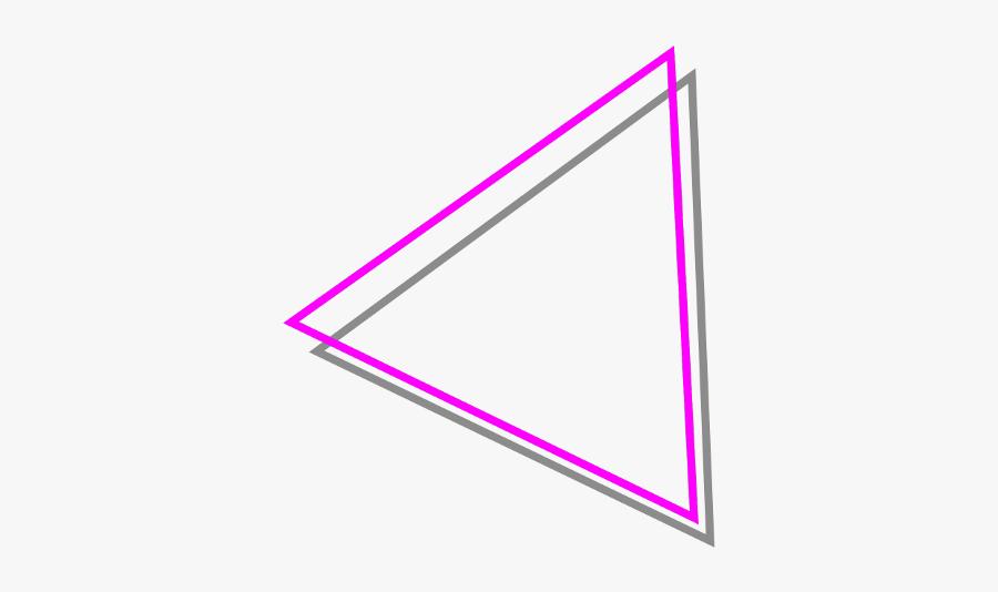 #triangle #border #pink #borderline #borders #triangles - Triangle, Transparent Clipart