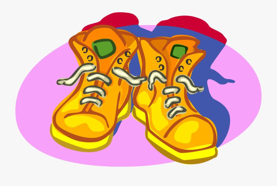 Vector Illustration Of Construction Safety Work Boots, Transparent Clipart