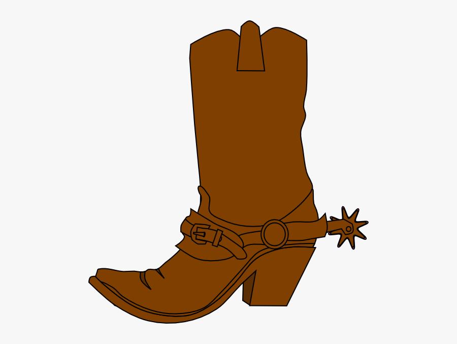 Cowboy Boot Clipart - Silhouette Cowboy Boot Png, Transparent Clipart