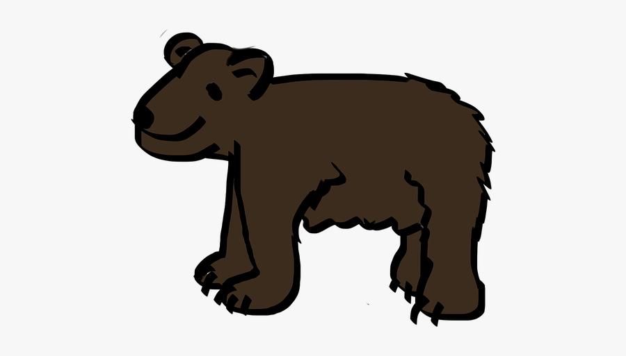 Bear, Brown Bear, Cartoon, Comic, Brown - Bear, Transparent Clipart