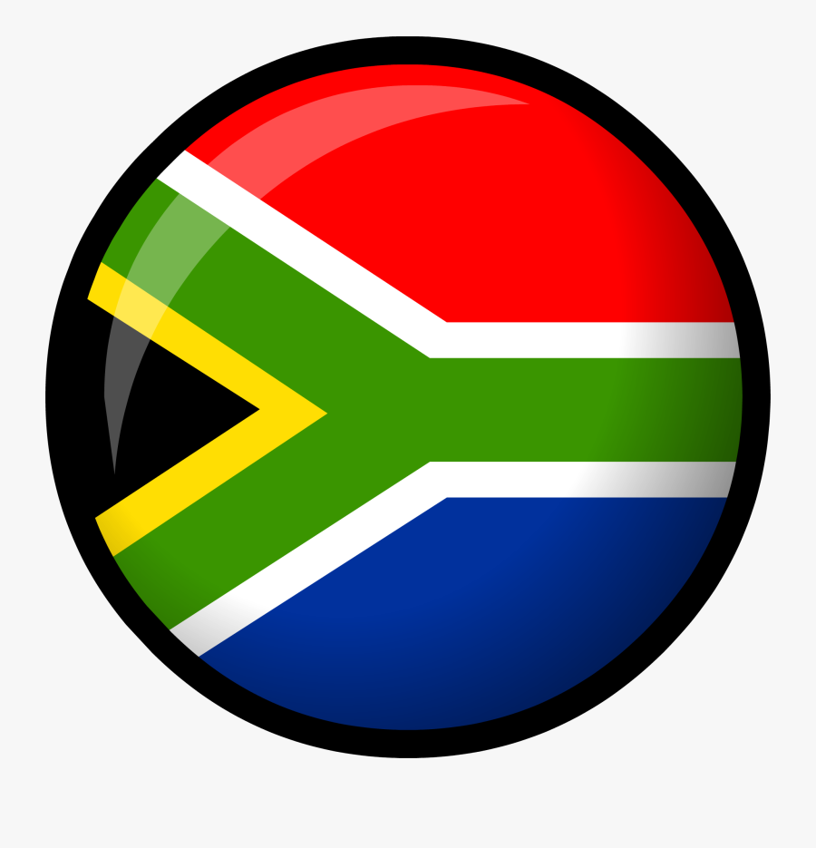 Africa Flag Png - Round South African Flag, Transparent Clipart