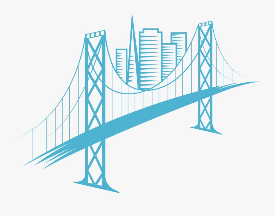 Self-anchored Suspension Bridge - Oakland Bay Bridge Clipart, Transparent Clipart