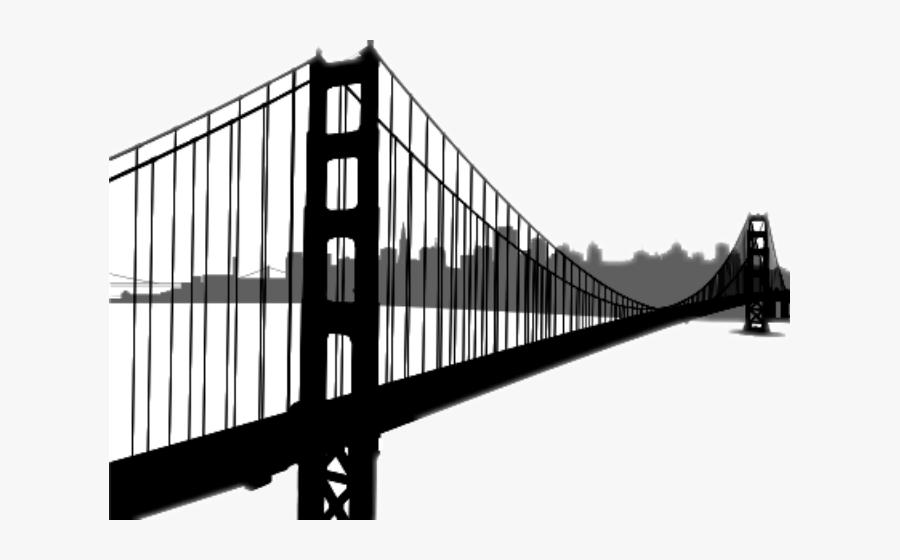 Ftebuildings Skyline Sanfrancisco - Golden Gate Bridge, Transparent Clipart