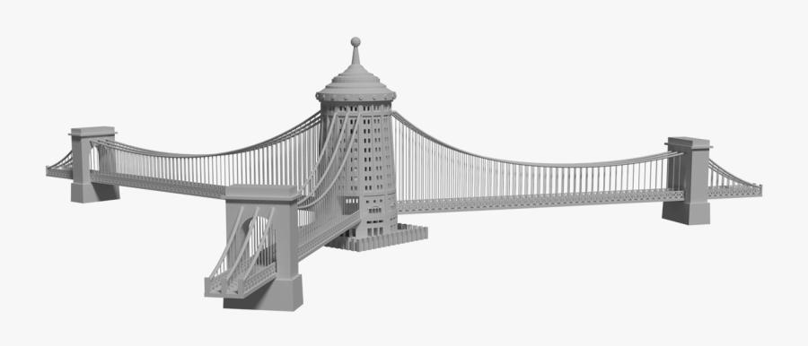 Transparent Suspension Bridge Png - Self-anchored Suspension Bridge, Transparent Clipart
