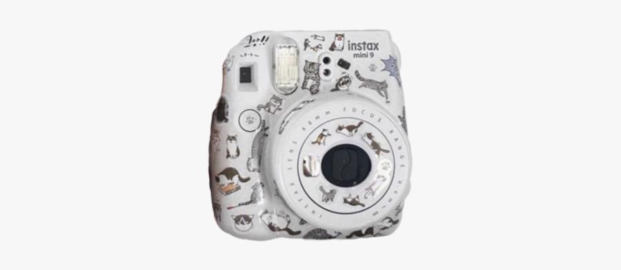 #white #camera #polaroid #cats #aesthetic - Instant Camera, Transparent Clipart