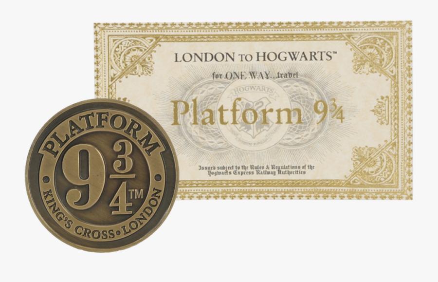 Platform 9 3 4 Ticket, Transparent Clipart