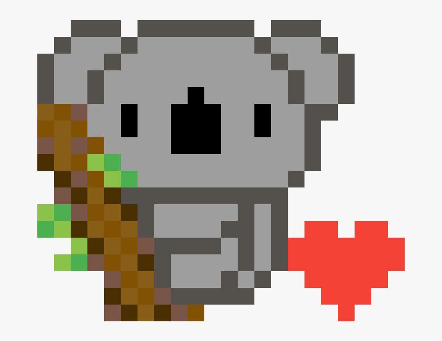 Koala Pixel Art, Transparent Clipart