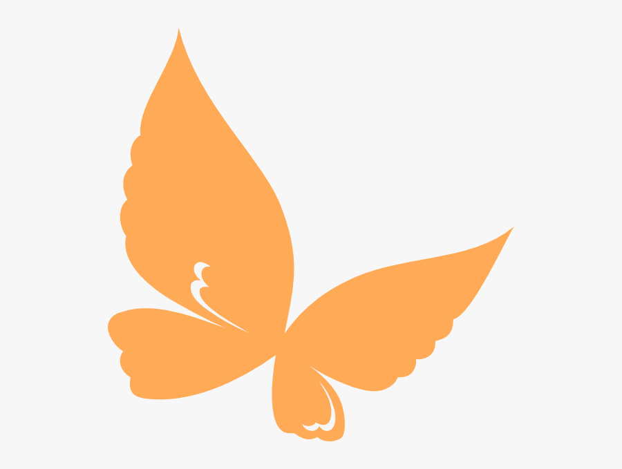 Transparent Orange Butterfly Png - Butterfly Clipart Orange, Transparent Clipart