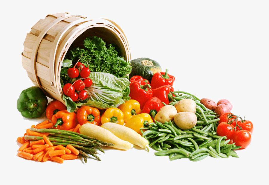 Vegetable In Basket Png, Transparent Clipart